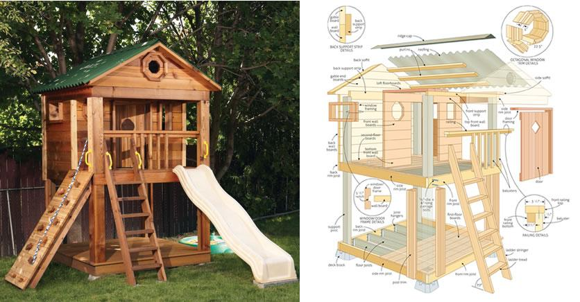 Building Wooden Playhouses